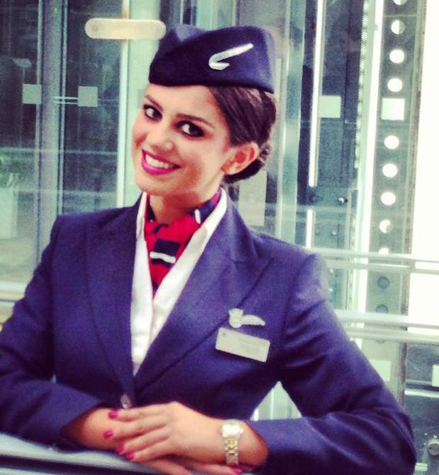 Sasha was formerly an air hostess with British Airways
