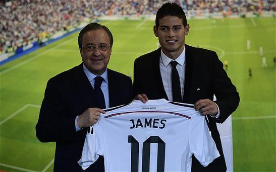 James Rodriguez is the latest high profile acquisition for Real Madrid