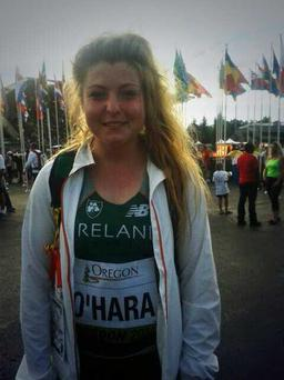 Teenage hammer thrower Emma O'Hara has become the first Irish athlete to reach a final at the World Junior T&F Championships in Oregon (Pic credit: Athletics Ireland)