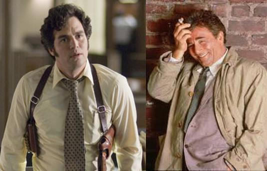 Could Mark Ruffalo (L) take on the role made legendary by Peter Falk (r)?