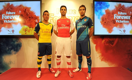Arsenal have released three new strips for the 2014/15 season