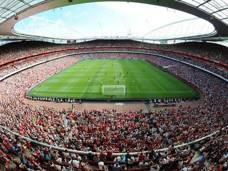 A view of Arsenal's Emirates Stadium