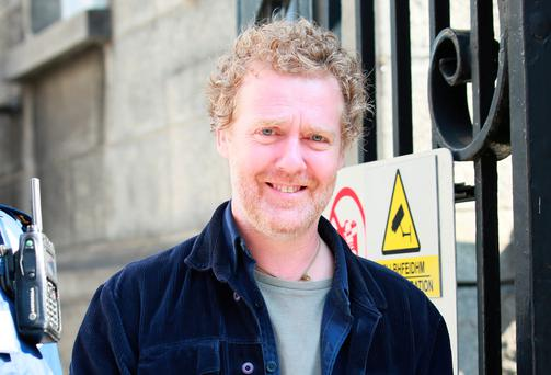 Oscar winne Glen Hansard pictured leaving the District Court in Dublin after a court appearance. Picture: Collins Courts