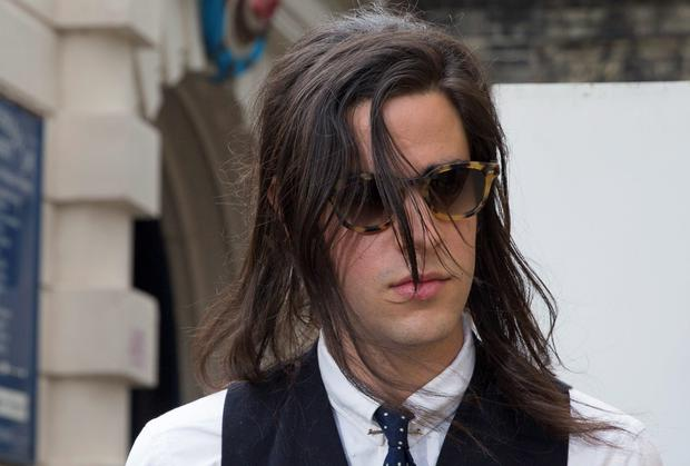Musician Thomas Cohen leaves after attending the inquest into the death of his wife Peaches Geldof, in Gravesend, southern England July 23, 2014.