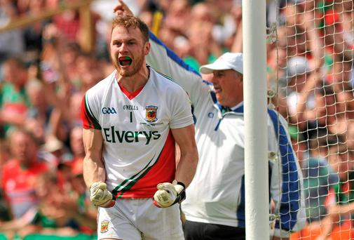 Mayo goalkeeper Rob Hennelly believes that with the county having come through a more testing provincial campaign than last year they are better prepared for the All-Ireland series. Photo: Ray Ryan / SPORTSFILE