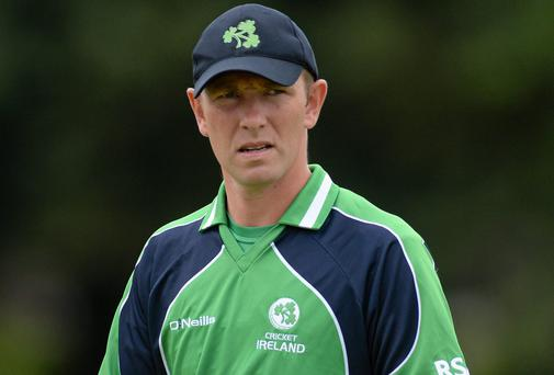 Andrew White became Ireland's most-capped cricketer, collecting his 227th cap in the 28-run defeat to Sri Lanka A. Photo: Oliver McVeigh / SPORTSFILE