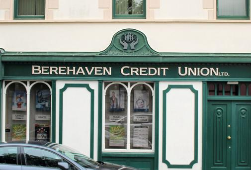 The offices of Berehaven Credit Union, Main Street, Castletownbere, West Cork. Berehaven Credit Union was wound up by order of the High Court. Photo: Niall Duffy