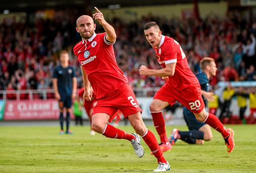 Sligo Rovers will be relying on captain Alan Keane to deliver another big performance if they are to overcome Rosenborg and progress into the next round of the Europa League qualifiers. Photo: Ramsey Cardy / SPORTSFILE