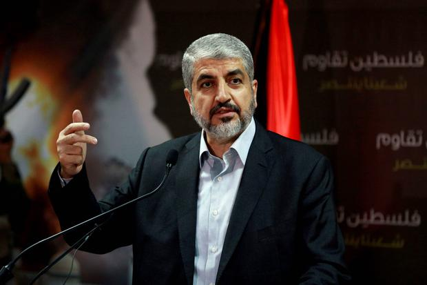 Hamas leader Khaled Meshaal talks during a news conference in Doha. Meshaal said he was ready to accept a humanitarian truce in Gaza where the Islamist group is fighting an Israeli military offensive, but would not agree to a full ceasefire until the terms had been negotiated. Reuters