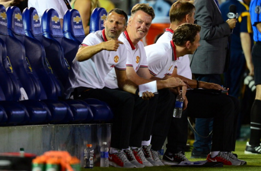 Louis Van Gaal was pleased with his side's emphatic victory in California