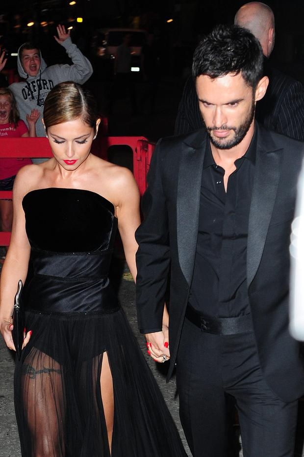 Cheryl Cole and Jean-Bernard Fernandez-Versini leave a party at the Library in London. Photo: Ian West/PA Wire London.
