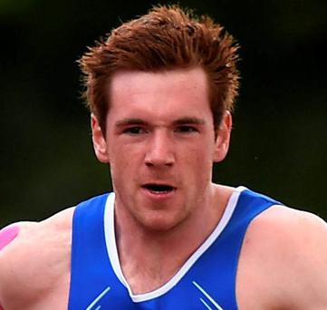 Eanna Madden, from Carrick-on-Shannon AC, Co. Leitrim, shared 200m gold with David Hynes after a dead heat and took silver in the 100m in the GloHealth Irish Championships (Matt Browne / SPORTSFILE)