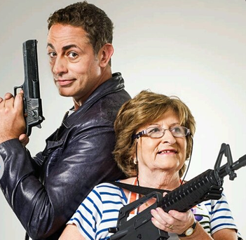 Baz Ashmawy and his mum