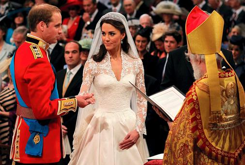 WEDDING BELLS: William and Kate's wedding cost more than €25m to stage in 2011, and cost the UK economy an estimated €6bn in lost working time. But the addition of a young woman to the royal stable is worth many billions more in tourist revenue gained, say UK analysts. Still, I wouldn't fancy trying to write a policy against it
