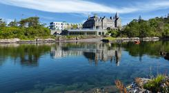 The magnificent Parknasilla Resort overlooking the serene waters of Kenmare Bay on Kerry's Wild Atlantic Way