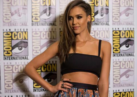 Cast member Jessica Alba poses at a press line for