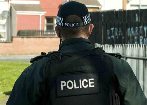 PSNI officers raided homes in the Strabane area on Tuesday norning. DR73
