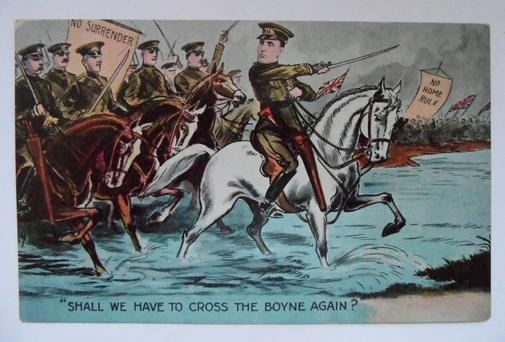A postcard depicting unionist opposition to Home Rule. Photo: PA