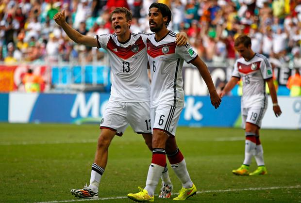 Thomas Muller and Sami Khedira - World Cup winners with Germany - are two of the most sought-after players in this summer transfer window. Photo: Phil Walter/Getty Images