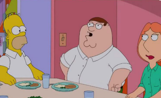 Simpsons Guy - Simpsons and Family Guy mash-up trailer released