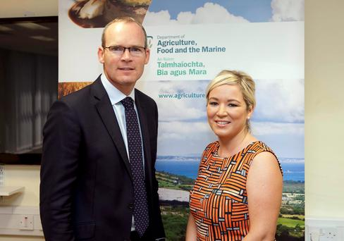 Yes Minister: Agriculture Ministers Simon Coveney and Michelle O'Neill met in Dublin to discuss the current complex challenges facing the beef industry