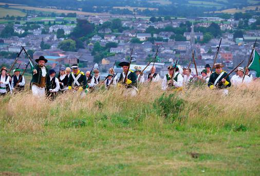The annual 1798 Battle of Vinegar Hill Reenactment is set to take place in the famous battlefield overlooking Enniscorthy town in County Wexford this Saturday and Sunday, August 2 and 3. Picture: Patrick Browne.