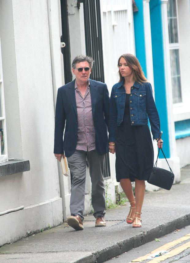 Gabriel Byrne with Hannah Beth King. Picture: Mark Doyle