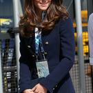 Catherine, Duchess of Cambridge arrives at the SECC Hydro for the Gymnastics during the 20th Commonwealth Games