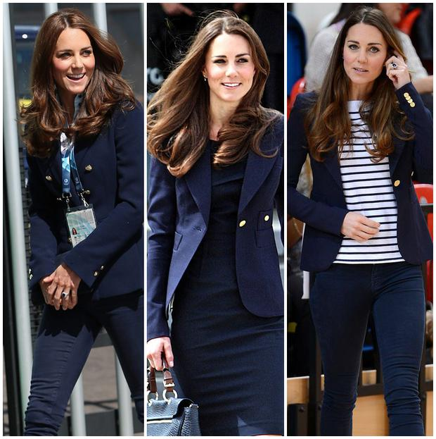 Kate is a fan of the navy Zara blazer