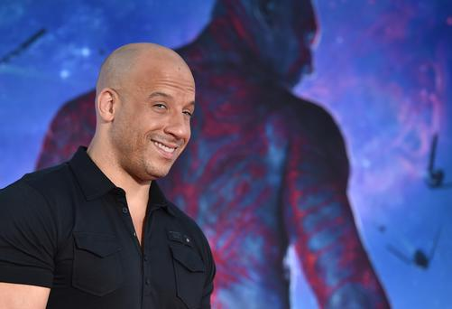 Vin Diesel attends the premiere of Marvel's