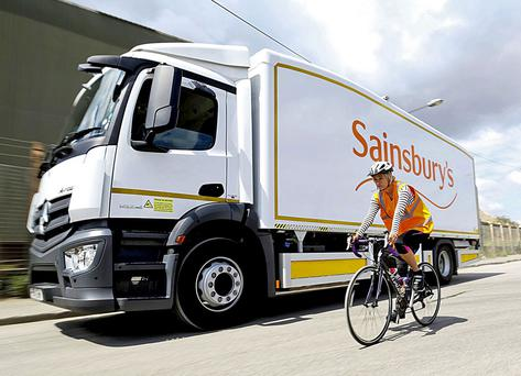 Sainsbury's could roll the lorries out across its whole fleet if they are successful
