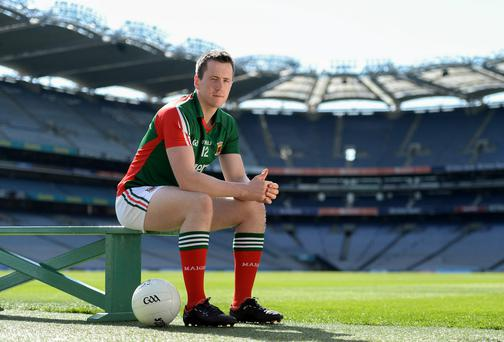 After last season's injury hell, Mayo's Cillian O'Connor is glad to have had a clear run this summer. Photo: Brendan Moran / SPORTSFILE