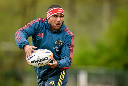 Question marks remain over whether Ireland coach Joe Schmidt fully trusts Simon Zebo at international level, but the Munster winger feels he made progress in Argentina. Photo: Diarmuid Greene / SPORTSFILE
