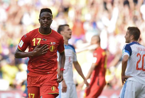 Belgian forward Divock Origi has completed his move from Lille to Liverpool but will remain with the French club on loan this season as part of the agreement. Photo: KIRILL KUDRYAVTSEV/AFP/Getty Images