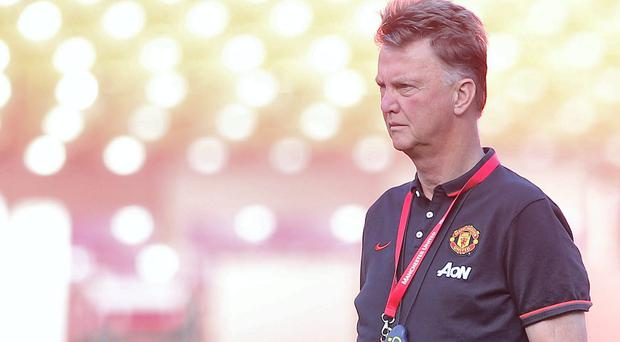 Manager Louis van Gaal of Manchester United in action during an open training session as part of their pre-season tour of the United States at FedExField on July 28, 2014 in Landover, Maryland. Photo: Matthew Peters/Man Utd via Getty Images