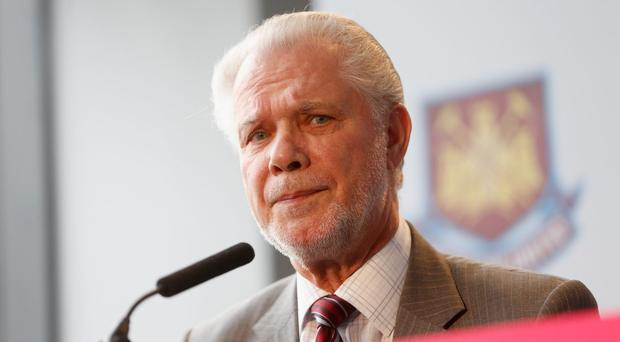 David Gold, co-owner of West Ham, has denied that he intentionally favourited a tweet suggesting Sam Allardyce should be sacked as the club's boss. Photo: Tom Shaw/Getty Images