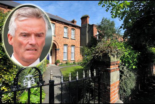 The home of Ivor Callely (inset) on St Lawrence's Road, Clontarf, Co Dublin.
