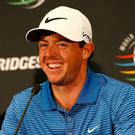 Rory McIlroy was all smiles yesterday
