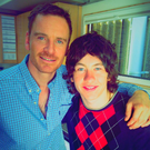 Barry Keoghan tweeted this photo with Michael Fassbender on set
