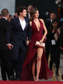 70th Annual Golden Globe Awards held at the Beverly Hilton Hotel - Outside Arrivals Featuring: Orlando Bloom, Miranda Kerr Where: Beverly Hills, California, United States When: 13 Jan 2013 Credit: STS/WENN.com