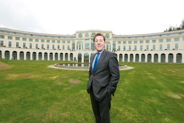 David Webster, general manager, pictured in front of Powerscourt Hotel.