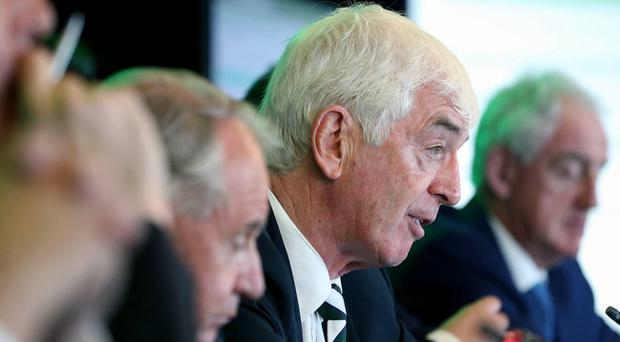 Tom Grace during the IRFU Annual Council Meeting earlier this month. Grace was today appointed as the Chairman of the Lions Board