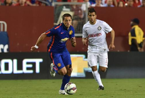 Javier Hernandez has so far only made two brief substitute appearances for Manchester United on their pre-season tour of the United States. Photo: NICHOLAS KAMM/AFP/Getty Images