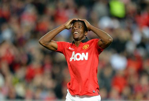 Wilfried Zaha Zaha claims he can impress new Manchester United boss Louis Van Gaal despite his Old Trafford disappointment last season. Photo: SAEED KHAN/AFP/Getty Images