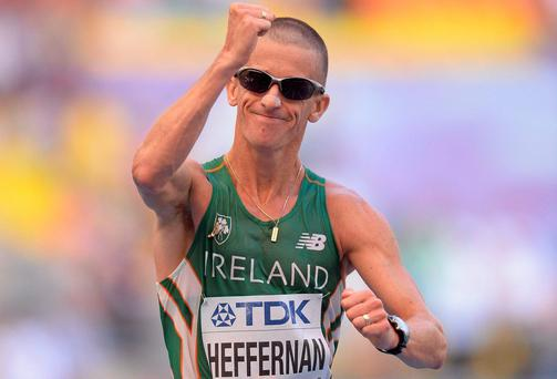 Ireland's Robert Heffernan has been handed a belated bronze after Russia's Stanislav Emelyanov - who won gold in Barcelona - was banned due to irregularities in his biological passport. Photo: Stephen McCarthy / SPORTSFILE