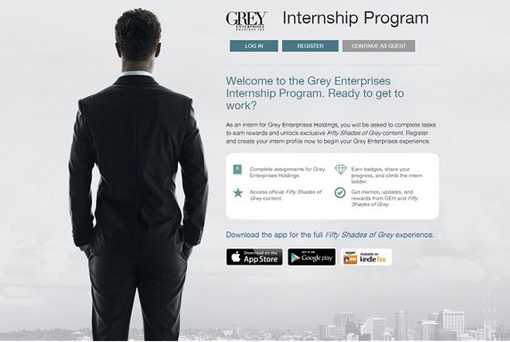 A screengrab of Grey Enterprises Holdings website