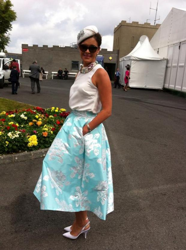 Helen Murphy wins Best Dressed Lady at Galway Races 2014. Picture/@BairbrePower