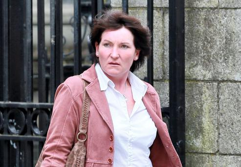 Anne Miley, of Dunlavin, Co. Wicklow, leaving the Four Courts yesterday(Thurs) after a High Court action for damages. Pic: Collins Courts