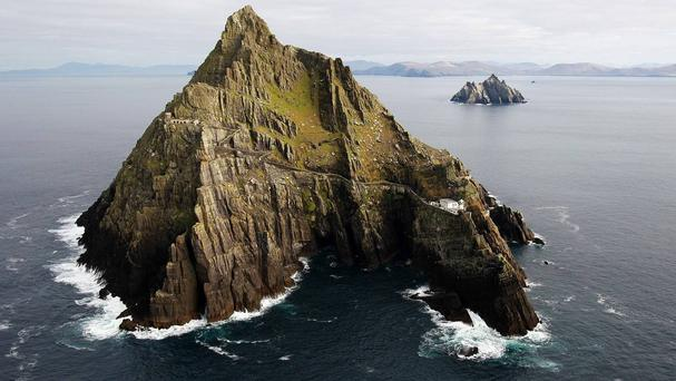 Filming for the new Star Wars film took place on Skellig Michael this week. Photo: PA