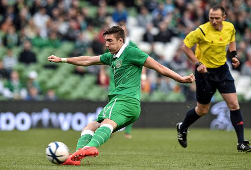 Wolves manager Kenny Jackett still wants to sell Ireland international Stephen Ward. David Maher / SPORTSFILE